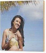 Tropical Vacationer Wood Print