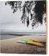 Tropical Watercraft Wood Print