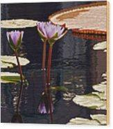 Tropical Waters Floral Charm -- Version 2 Wood Print