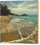 Tropical Waves Wood Print