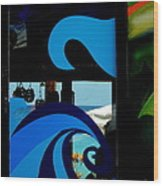 Tropical Waves Of Blue In Puerta Maya Cozumel Mexico Wood Print