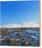 Tropical White Waters Wood Print