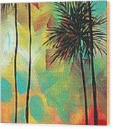 Tropics By Madart Wood Print