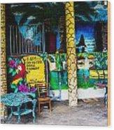 Tropics In Ok Wood Print