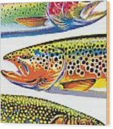 Trout Abstraction Wood Print