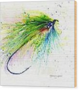 Trout Fly Wood Print