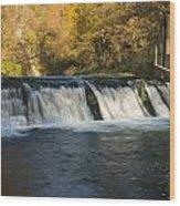 Trout Run Creek Dam 2 Wood Print