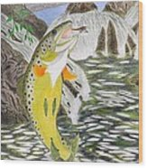 Trout Stream In May Wood Print