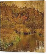 Trout Stream Textured Wood Print