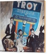 Troy Stopover Wood Print