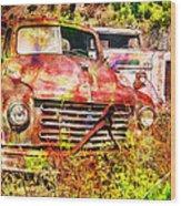 Truck Abstract Wood Print by Robert Jensen