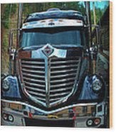 Truck Face Wood Print