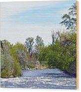 Truckee River  Wood Print
