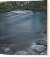 Truckee River Wood Print