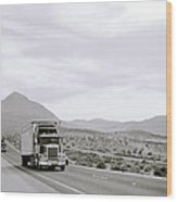 Trucking Across America Wood Print