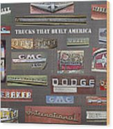 Trucks That Built America Wood Print