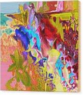 True Colours Wood Print by Soumya Bouchachi