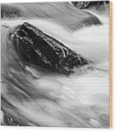 True's Brook Gorge Water Fall Wood Print