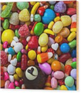 Truffle And Candy Wood Print