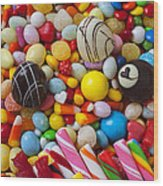 Truffles And Assorted Candy Wood Print