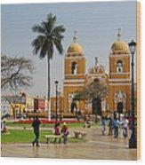 Trujillo Peru Plaza Wood Print