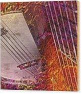 Truly Southern Digital Banjo And Guitar Art By Steven Langston Wood Print by Steven Lebron Langston