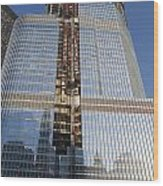 Trump International Hotel Under Construction Chicago Wood Print