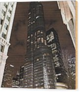 Trump Tower Chicago At Night Wood Print