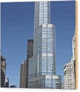Trump Tower Chicago Wood Print