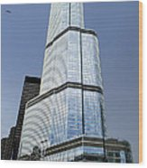 Trump Tower Facade 3 Letter Signage Wood Print