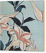 Trumpet Lilies Wood Print