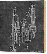 Trumpet Patent Wood Print
