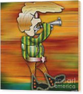 Trumpet Player Wood Print