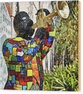 Trumpeter Wood Print