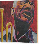 Trumpeter Shades Of Red Wood Print