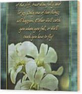 Trusting God Wood Print
