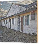 Truro Motel Wood Print