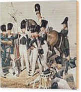 Tsarevich Alexander 1818-81 With His Cadets At Peterhof, C.1823 Wc On Paper Wood Print
