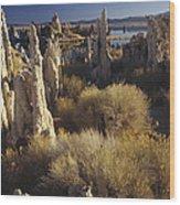 Ttufa Formations Mono Lake California Wood Print