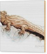 Tuatara Wood Print