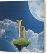 Tuba Dreams Wood Print