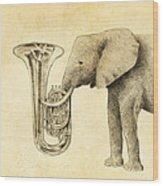 Tuba Wood Print