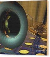 Tuba Goes Disco Wood Print