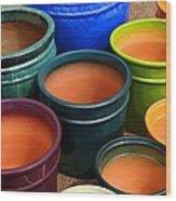 Tubac Pottery 2 Wood Print