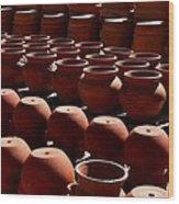 Tubac Pottery Factory Wood Print