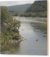 Tubing On The Potomac River At Harpers Ferry Wood Print