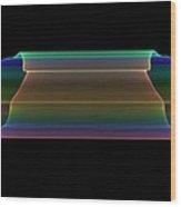 Tubular Rainbow Wood Print