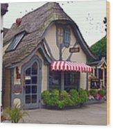 Tuck Box Tearoom - Carmel California Wood Print