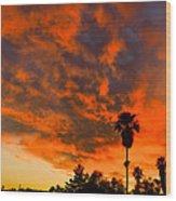 Tucson Arizona Sunrise Fire In The Sky Wood Print