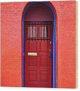 Tucson Doorway Wood Print